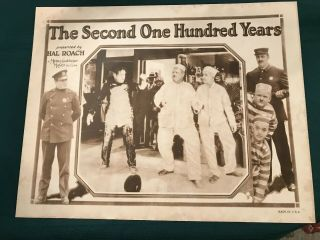 "The Second Hundred Years 1927 Mgm/hal Roach 11x14 "" Comedy Lobby Laurel & Hardy"