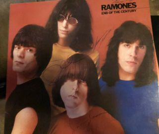 Fully Signed Ramones End Of The Century Album.