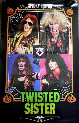 Twisted Sister Signed Spooky Empire Convention Backdrop Autographed 1 Of A Kind