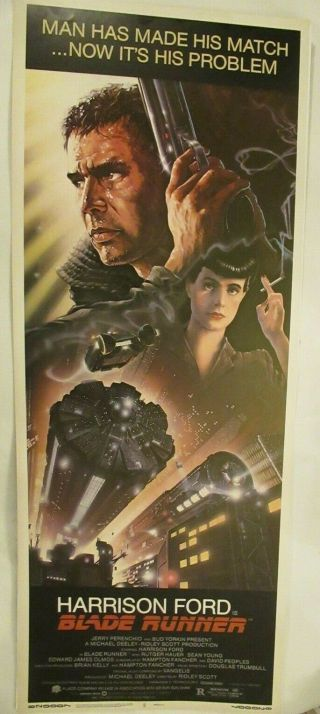 1982 Authentic 14x36 Poster Bladerunner Gorgeous Unfolded Rare