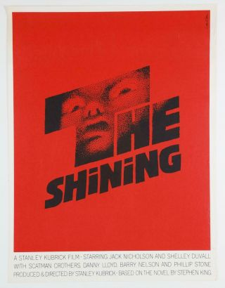 The Shining Saul Bass 1 Of Only 150 Silkscreen Poster Prints Ever Made