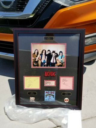 Ac/dc In - Person Signed X 5 Scott,  Young (s),  Rudd,  Williams 6/27/79 Custom Framed