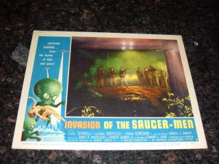 Invasion Of The Saucer - Men 1957 Lobby Card,  C8.  5 Very Fine To Near