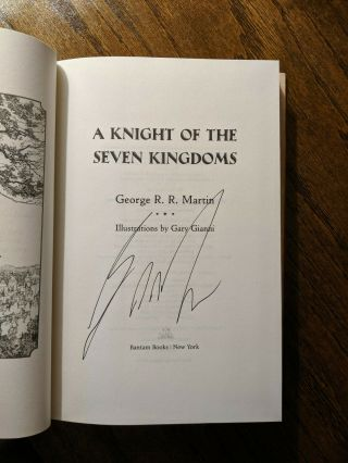 George Rr Martin Signed Game Thrones A Knight Of The Seven Kingdoms Autograph