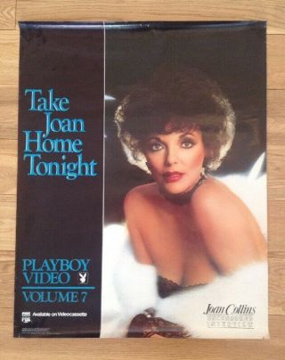 Joan Collins - Extremely Rare - Vintage 1985 Playboy Poster Nmt