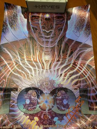 Tool Newark Poster Signed Prudential Center Alex Grey Foil Print 11/16/19