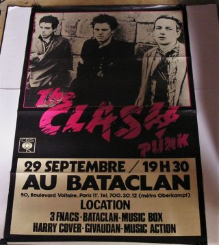 The Clash - 1977 Giant 47x31 Paris Subway Concert/promo Poster
