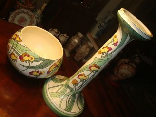 "Vintage Roseville Persian Pattern Jardiniere And Pedestal,  41 "" H,  Ca1908"