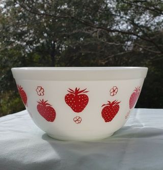 Pyrex Red Strawberry Bowl 402 Rare Htf Holy Grail Unicorn