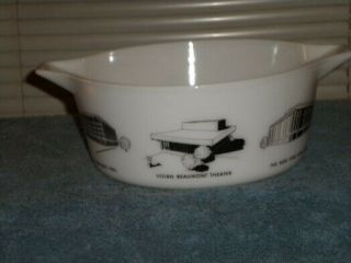 Vintage Pyrex rare HTF Lincoln Center Promotional Casserole 475 3