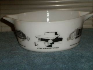 Vintage Pyrex rare HTF Lincoln Center Promotional Casserole 475 4