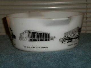 Vintage Pyrex rare HTF Lincoln Center Promotional Casserole 475 5