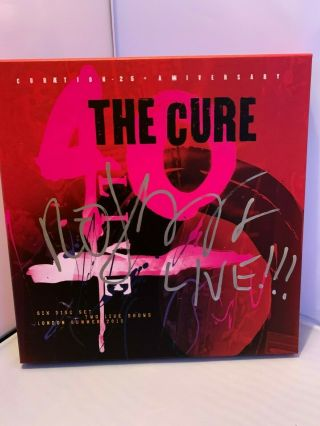 The Cure - 40th Anniversary Box Set Signed By Robert Smith