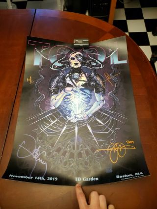 Tool 2019 Tour Poster Autographed Signed Boston 137 Of 650
