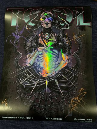 Tool Signed Poster Boston Td Garden