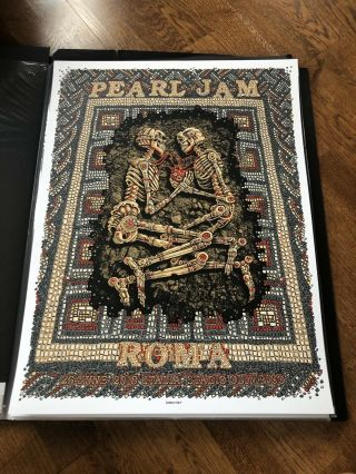 Pearl Jam Emek Rome Roma Italy Concert Poster Print Show Edition Vedder