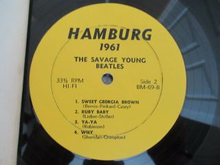 Beatles ULTRA RARE VINTAGE 1964 ' SAVAGE YOUNG BEATLES ' ORANGE COVER LP 4