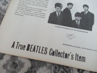 Beatles ULTRA RARE VINTAGE 1964 ' SAVAGE YOUNG BEATLES ' ORANGE COVER LP 5
