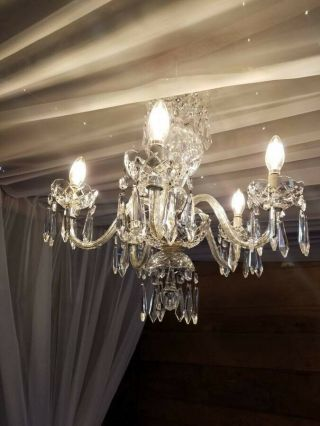 Waterford Comeragh 5 - Arm Crystal Chandelier,  1960