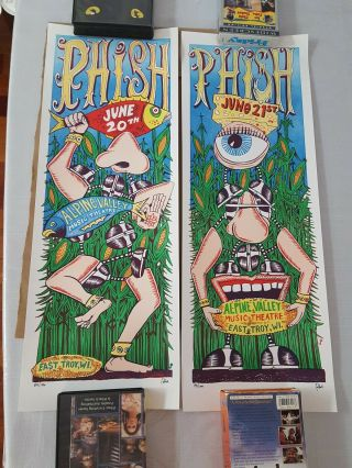 Phish East Troy Wi Poster Set 2009 Pollock