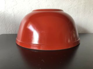 Rare Pyrex Earthtones Red Rust Htf 403 Mixing Bowls