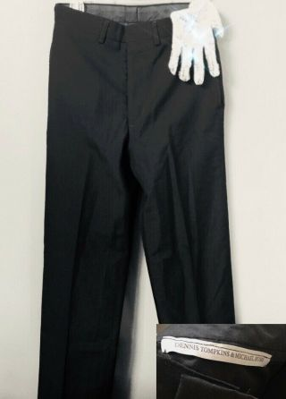 Michael Jackson Worn Pants Billie Jean Rehearsal,  Letter No Signed Glove Fedora