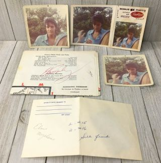 Rare Authentic Elvis Presley Photographs,  Negatives & Autograph One Of A Kind
