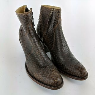 Miranda Lambert Idyllwind Brown Leather Side Zip Ankle Boots Size 8.  5 B