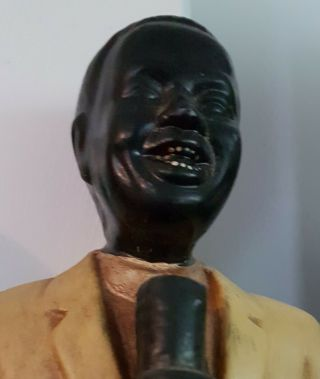 Antique Louie Armstrong/jazz/blues Musician/singer Old Pottery Figurine