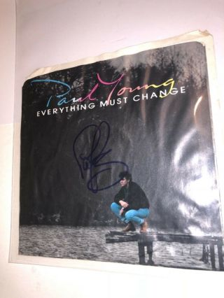Paul Young Signed 45 Picture Sleeve Autograph 2