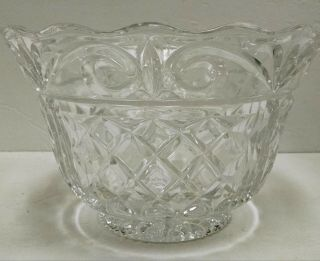 """Shannon Crystal Bowl Ireland Cut Pedestal Footed Large Centerpiece 12 """" X 10.  5 """""""