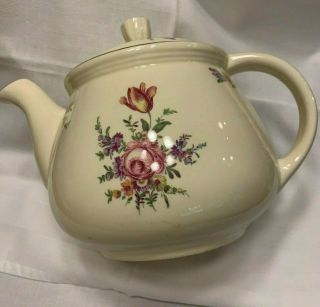 Homer Laughlin Household Institute Priscilla Pattern Teapot Antique