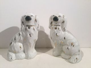 "Antique 5 1/2"" Staffordshire Dogs"