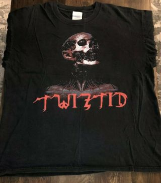 Twiztid Hatchet Rising Tour Xl Shirt Vtg Ninja Mne Insane Clown Posse Juggalo
