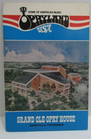 1976 Opryland Usa Souvenir Booklet Grand Ole Opry Nashville