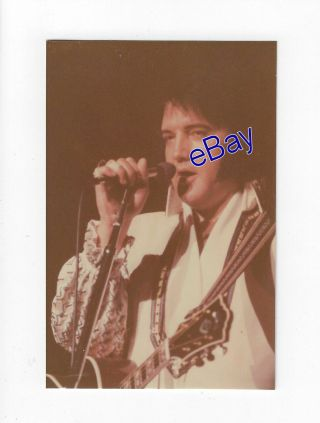 Elvis Presley Concert Photo V - Neck Suit 1976 - Jim Curtin Vintage Rare