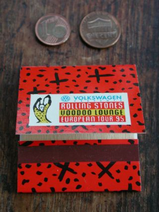 Matchbook From 1995 Rolling Stones Voodoo Lounge European Tour Volkswagen Vw
