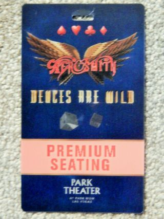 Aerosmith Premium Seating 3 - D Credential April 8 2019 Park Theater Las Vegas