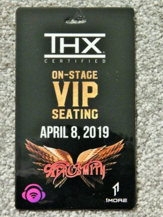 Aerosmith On - Stage Vip Seating Credential April 8 2019 Park Theater Las Vegas