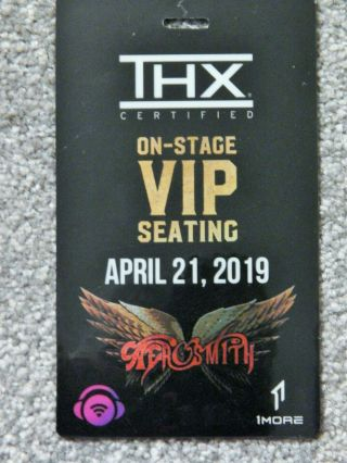 Aerosmith On - Stage Vip Seating Credential April 21 2019 Park Theater Las Vegas