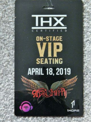 Aerosmith On - Stage Vip Seating Credential April 18 2019 Park Theater Las Vegas