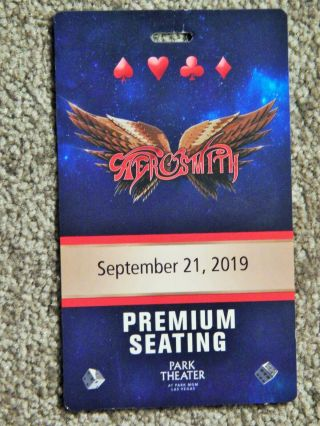 Aerosmith Premium Seating 3 - D Credential Sept 21 2019 Park Theater Las Vegas