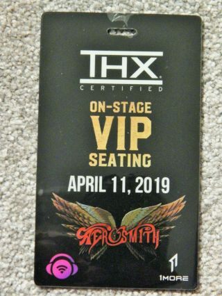 Aerosmith On - Stage Vip Seating Credential April 11 2019 Park Theater Las Vegas