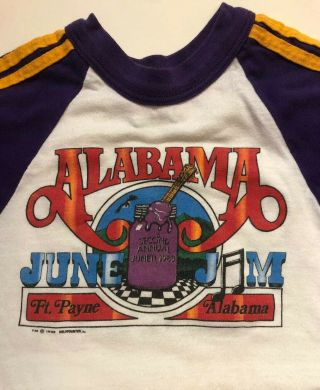 Vintage 1983 Alabama June Jam T - Shirt Kids Small 6 - 8