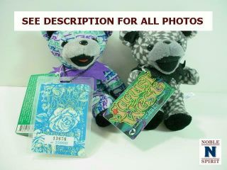 Noblespirit {3970}delightful Grateful Dead Bean Bears