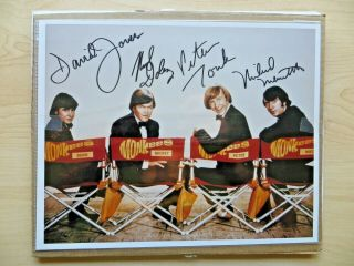 "Jones,  Dolenz,  Tork & Nesmith - Monkees Signed 8 "" X 10 "" Group Photo"