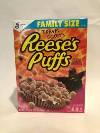 Limited Travis Scott X Reeses Puffs Cereal - Family Sized - Rare