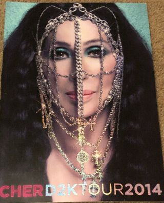 Cher D2k 2014 Dressed To Kill Tour Concert Program Picture Book