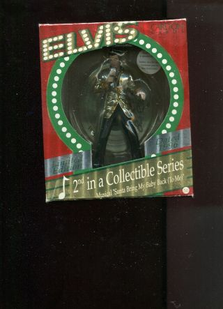 Elvis Musical Christmas Ornament Nib