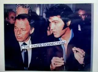 Photo Of Elvis Again On Rare Polaroid Film - Elvis & Frank Sinatra